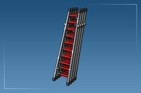Vierteilige Steckleiter