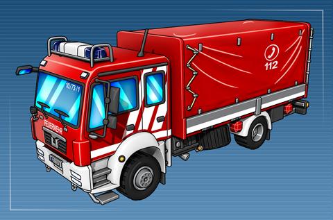 Gerätewagen Dekontamination Verletzter