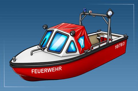 Kleinboot ohne Löscheinrichtung