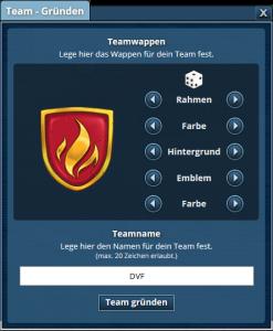 Team-Gründung