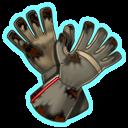 Verkohlte Einsatzhandschuhe