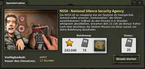NSSA Spezialeinsatz