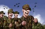 Marsch mit Gesang