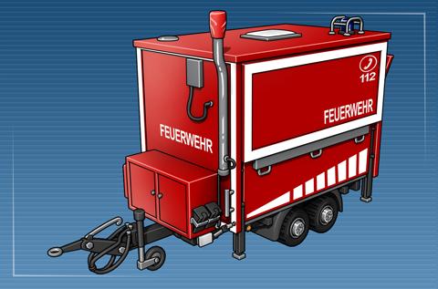 Feuerwehranhänger Führung und Lage