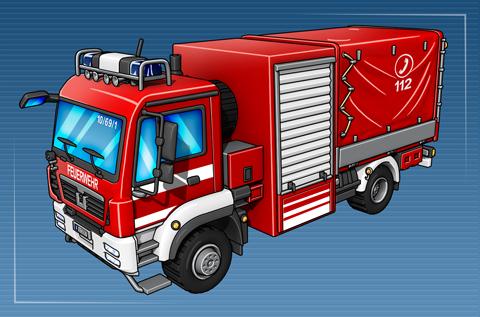 Schlauchwagen Katastrophenschutz